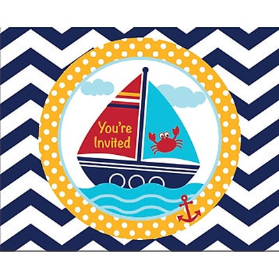 Creative Converting Ahoy Matey Nautical Invitations 8 pk (897226) 2677055