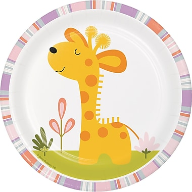 Creative Converting Happy Jungle Dessert Plates, Giraffe 8 pk (324579)