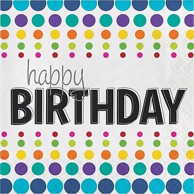 Creative Converting Birthday Pop Napkins 16 pk (665834)