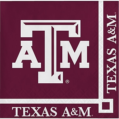 NCAA Texas A and M University Beverage Napkins 20 pk (654848)