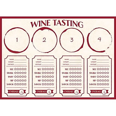 Creative Converting Sip Sip Hooray Wine Placemats 24 pk (325098)