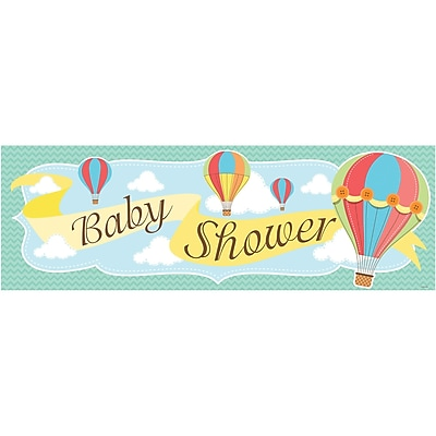 Creative Converting Up, Up, and Away Hot Air Balloon Giant Party Banner (315325)