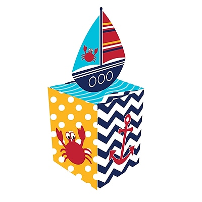 Creative Converting Ahoy Matey Nautical Favor Boxes 8 pk (087226)