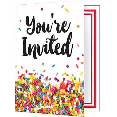 Creative Converting Confetti Sprinkles Invitations 8 pk (324668)