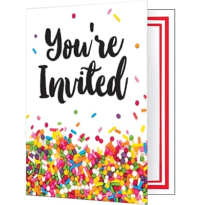 Creative Converting Confetti Sprinkles Invitations 8 pk (324668)