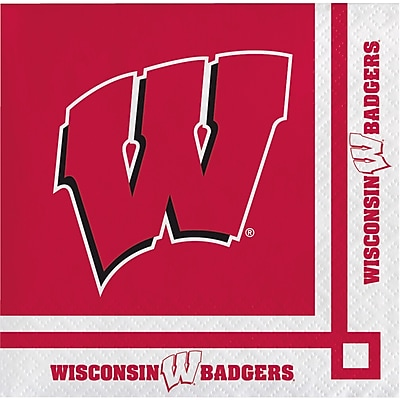 NCAA University of Wisconsin Beverage Napkins 20 pk (654858)