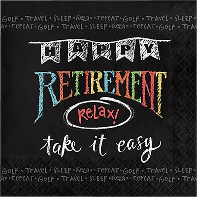 Creative Converting Retirement Chalk Napkins 16 pk (665977)