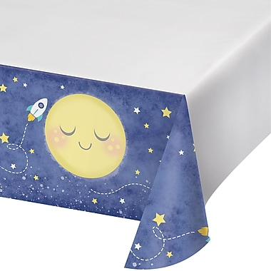 Creative Converting To the Moon and Back Plastic Tablecloth (322269)