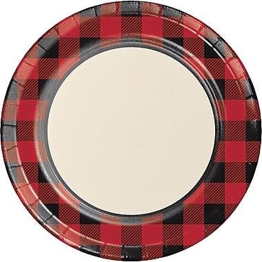 Creative Converting Buffalo Plaid Paper Plates 8 pk (321825)
