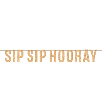 Creative Converting Sip Sip Hooray Wine Letter Banner (325089)