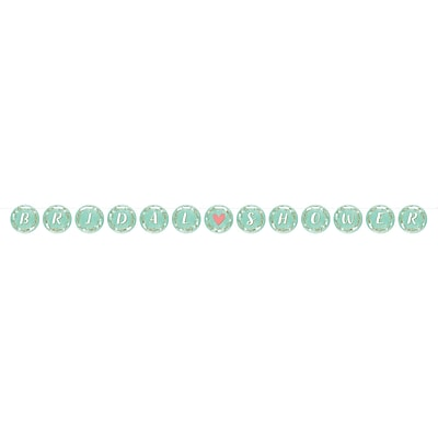 Creative Converting Mint to Be Ribbon Banner (324686)