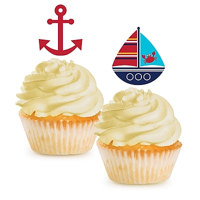 Creative Converting Ahoy Matey Nautical Cupcake Picks 12 pk (040226)