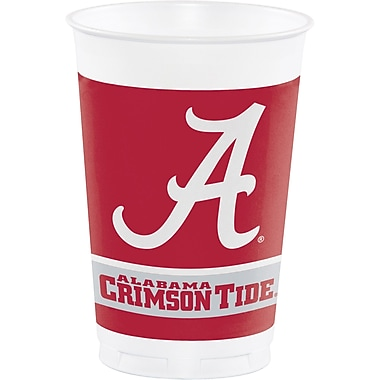 NCAA University of Alabama Plastic Cups 8 pk (374697)