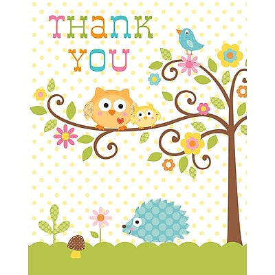 Creative Converting Happi Tree Thank You Notes 8 pk (890128)