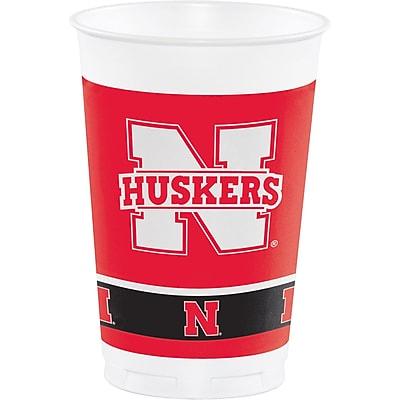 NCAA University of Nebraska Plastic Cups 8 pk (379853)