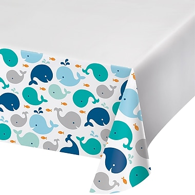 Creative Converting Blue Baby Whale Plastic Tablecloth (324428)