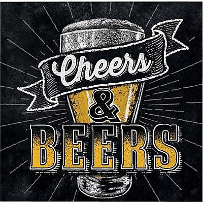 Creative Converting Cheers and Beers Beverage Napkins 16 pk (322322)
