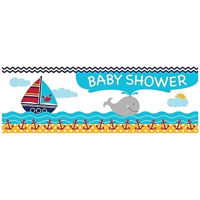 Creative Converting Ahoy Matey Nautical Baby Shower Banner (297226)