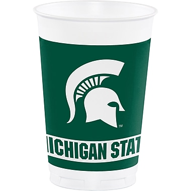 NCAA Michigan State University Plastic Cups 8 pk (374716)