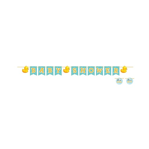 Creative Converting Rubber Duck Bubble Bath Baby Shower Napkins, 16 Pack (661058)