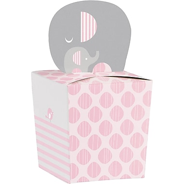 Creative Converting Little Peanut Girl Elephant Favor Boxes 8 pk (317226)