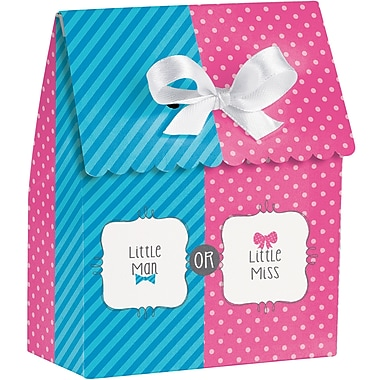 Creative Converting Bow or Bowtie Gender Reveal Favor Bags 12 pk (087041)