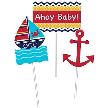 Creative Converting Ahoy Matey Nautical DIY Centerpiece Sticks 3 pk (027226)
