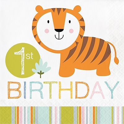 Creative Converting Happy Jungle 1st Birthday Napkins 16 pk (324580)
