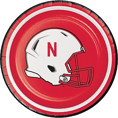 NCAA University of Nebraska Dessert Plates 8 pk (419853)