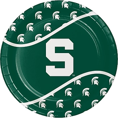 NCAA Michigan State University Paper Plates 8 pk (424716)
