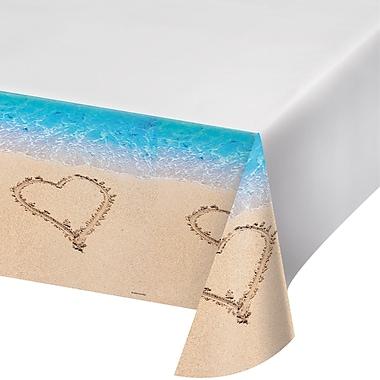 Creative Converting Beach Love Plastic Tablecloth (727363)