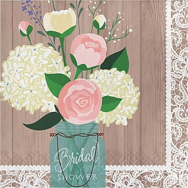 Creative Converting Rustic Wedding Bridal Shower Napkins 16 pk (660706)