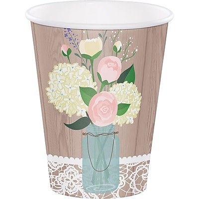 Creative Converting Rustic Wedding Cups 8 pk (378706) 2677165
