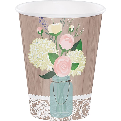 Creative Converting Rustic Wedding Cups 8 pk (378706)