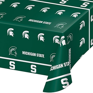 NCAA Michigan State University Plastic Tablecloth (724716)