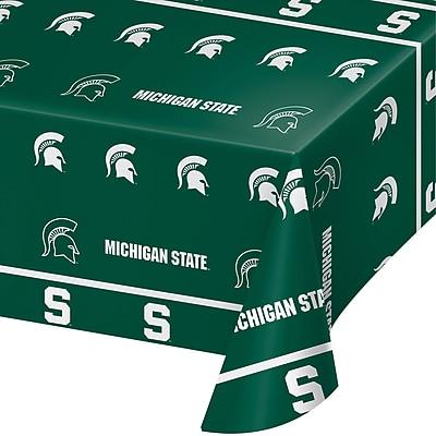 NCAA Michigan State University Plastic Tablecloth (724716)