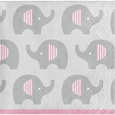 Creative Converting Little Peanut Girl Elephant Beverage Napkins 16 pk (316940)