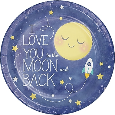 Creative Converting To the Moon and Back Paper Plates 8 pk (321807)