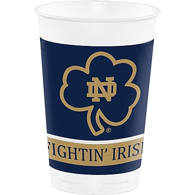 NCAA University of Notre Dame Plastic Cups 8 pk (014842)