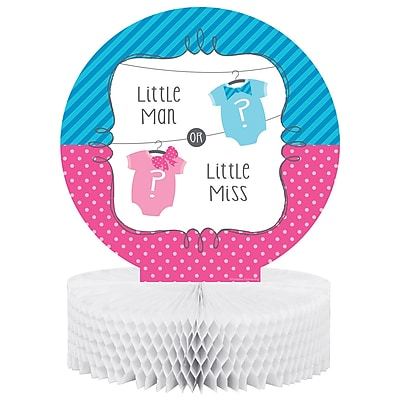 Creative Converting Bow or Bowtie Gender Reveal Centerpiece (267041)