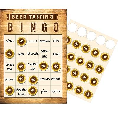 Creative Converting Cheers and Beers Pub Crawl Bingo 10 pk (325083)
