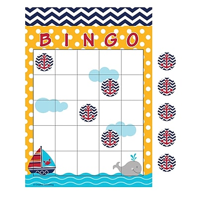 Creative Converting Ahoy Matey Nautical Baby Shower Bingo 10 pk (197226)