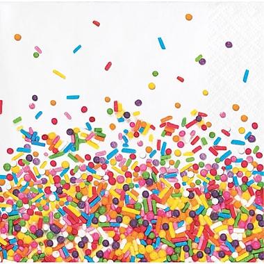 Creative Converting Confetti Sprinkles Beverage Napkins 16 pk (324665)