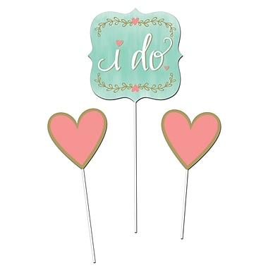 Creative Converting Mint to Be DIY Centerpiece Sticks 3 pk (324690)