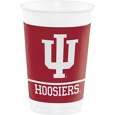 NCAA Indiana University Plastic Cups 8 pk (374924)