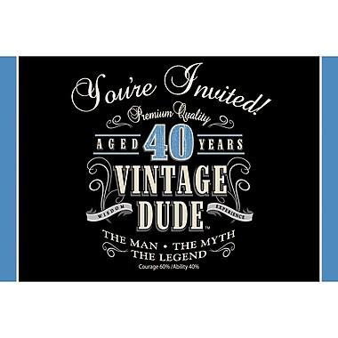 Creative Converting Vintage Dude 40th Birthday Invitations 8 pk (891467)
