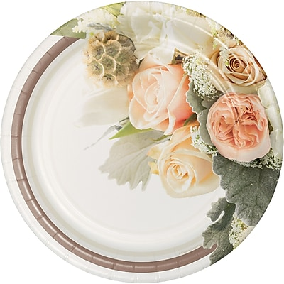 Creative Converting Rose Gold Bouquet Banquet Plates 8 pk (318152)