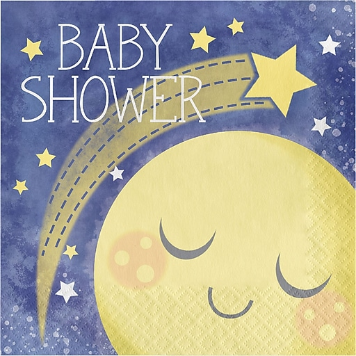Creative Converting To The Moon And Back Baby Shower Lunch Napkins, 16/Pack (321805)
