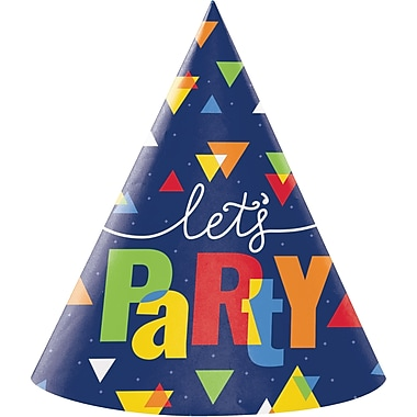 Creative Converting Geo-Pop Birthday Party Hats 8 pk (324635)