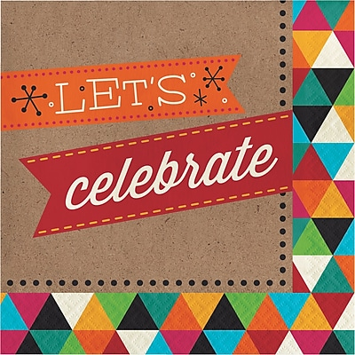 Creative Converting Birthday Kraft Celebrate Napkins 16 pk (661980)